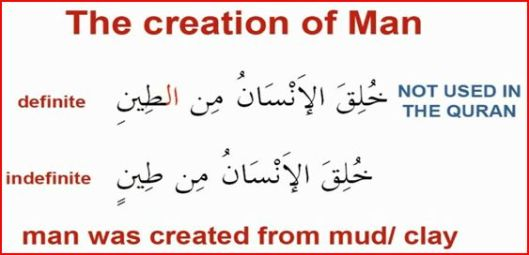 Man was created from clay/mud